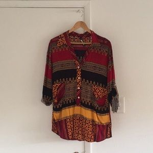 Plenty by Tracy Reese African Print Tunic